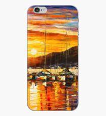 ITALY, NAPLES HARBOR - VESUVIUS - Leonid Afremov CITYSCAPE iPhone Case