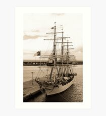 Danish training ship Art Print
