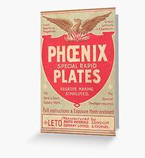 Phoenix Glass Plate Negatives Greeting Card