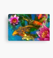 Koi Play Canvas Print