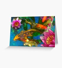 Koi Play Greeting Card