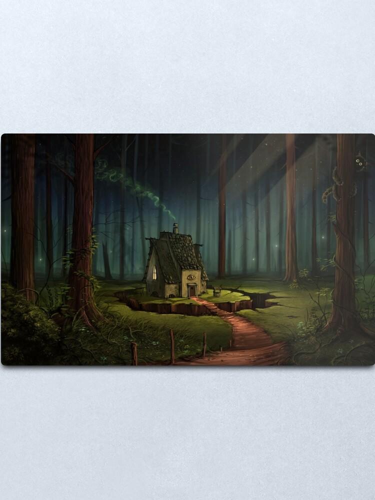 Alternate view of The Alchemist's Hut Metal Print