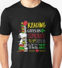 Read Reading Gives Us Someplace To Go T-Shirt