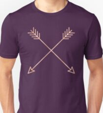 Rose Gold Arrows 2.0 - Adventure Wanderlust Pink Compass Design tshirt tapestry pillow rosegold  Unisex T-Shirt
