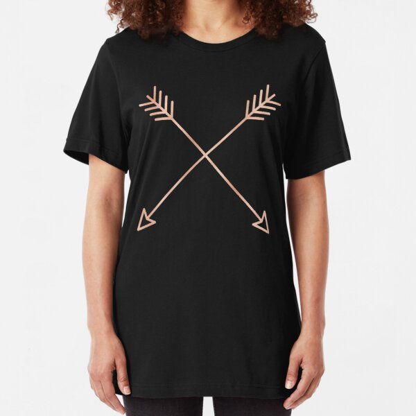 Rose Gold Arrows 2.0 - Adventure Wanderlust Pink Compass Design tshirt tapestry pillow rosegold  Slim Fit T-Shirt