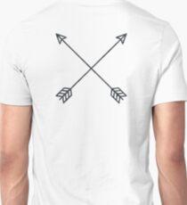 Arrows 2.0 - Black and White Arrow Adventure Wanderlust Vintage Compass Design T-Shirt