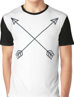Arrows 2.0 - Black and White Arrow Adventure Wanderlust Vintage Compass Design Graphic T-Shirt
