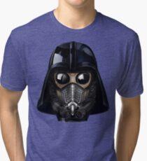 Gas Mask Japanese Shogun Style Tri-blend T-Shirt