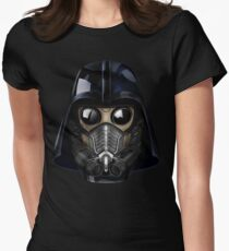 Gas Mask Japanese Shogun Style Womens Fitted T-Shirt