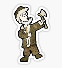 cartoon woodsman Sticker
