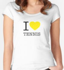 I ♥ TENNIS Women's Fitted Scoop T-Shirt