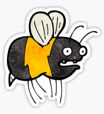 cartoon fat bumble bee Sticker