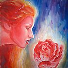 Sappho the rose of Aphrodite painting by Corina Chirila