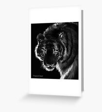 Tigre B&N, featured in Back in Black  Greeting Card
