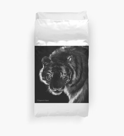 Tigre B&N, featured in Back in Black  Duvet Cover