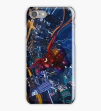Big Giant Flying red robot iPhone Case/Skin