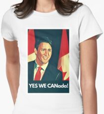 Yes We Canada!  Womens Fitted T-Shirt