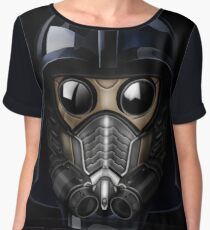 Gas Mask Japanese Shogun Style Chiffon Top