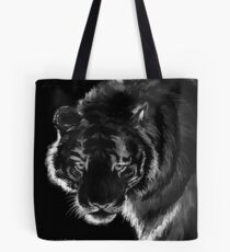 Tiger B & N, featured in Back in Black Tote Bag