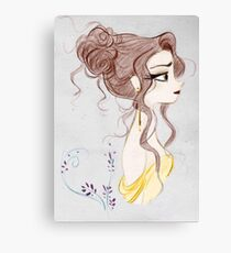 Beauty and the Beast Drawing Beautiful Magic  Canvas Print