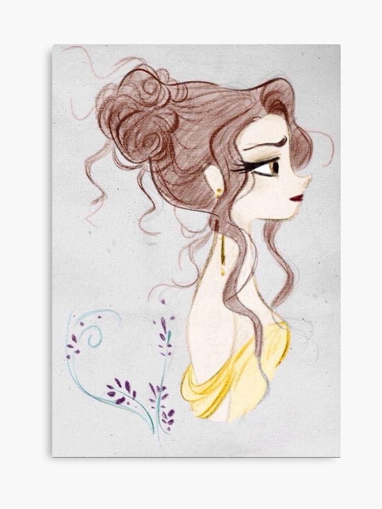 Schönheit Und Das Biest Die Schöne Magie Zeichnen Leinwanddruck