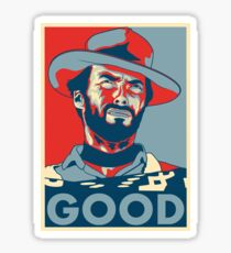 "Clint Eastwood ""Hope"" Poster Sticker"