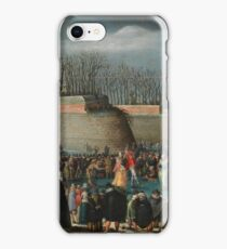 Alsloot, Denis Van - Skating Masquerade, Or Carnival On Ice At The Kipdorppoort Moats In Antwerp iPhone Case/Skin