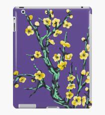 golden flowers on a mossy tree  iPad Case/Skin