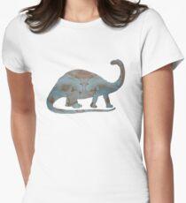 Brontosaurus - Dinosaur Art Womens Fitted T-Shirt