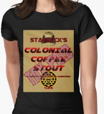Starbuck's Colonial Coffee Stout Women's Fitted T-Shirt