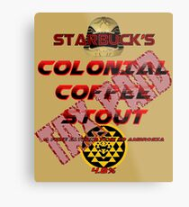 Starbuck's Colonial Coffee Stout Metal Print