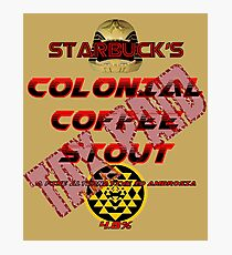 Starbuck's Colonial Coffee Stout Photographic Print