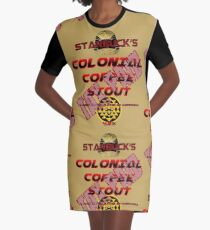 Starbuck's Colonial Coffee Stout Graphic T-Shirt Dress