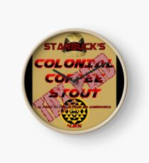 Starbuck's Colonial Coffee Stout Clock