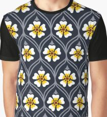 abstract white flower pattern Graphic T-Shirt
