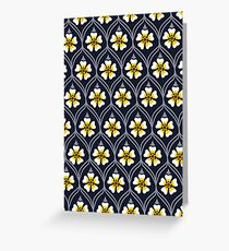 abstract white flower pattern Greeting Card