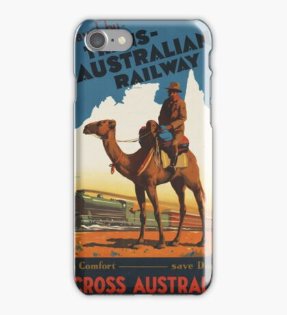 Australian Vintage Travel Poster iPhone Case/Skin