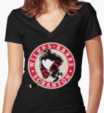 wilkes barre scranton penguins jersey Women's Fitted V-Neck T-Shirt