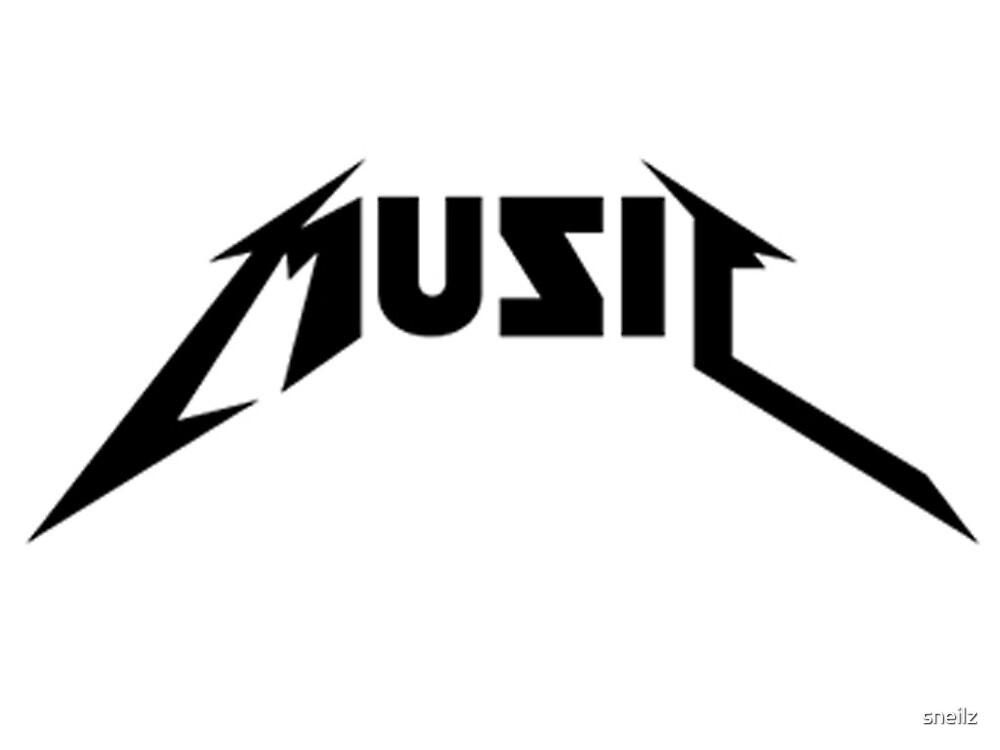 MUSIC Metallica Font By Sneilz Redbubble