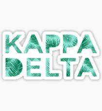 Kappa Delta Palm Tree Sticker