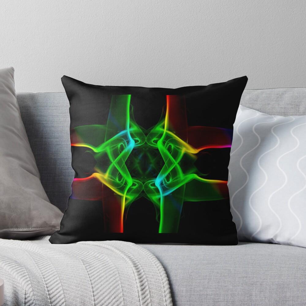 Rainbow Crossing Throw Pillow