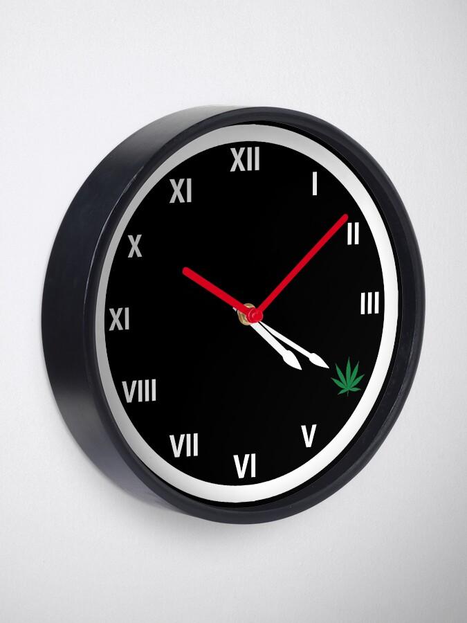 Alternate view of Marijuana 420 Weed Smokers Clock Clock