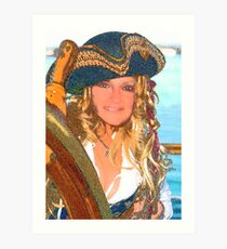 Shannon the Pirate Art Print