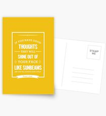 Roald Dahl quote - if you have good thoughts  Postcards