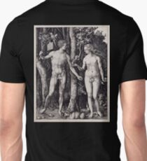 ADAM AND EVE, NAKED, 1504, Albrecht Dürer Unisex T-Shirt