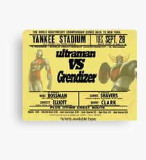 ultraman vs grezinger Canvas Print