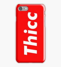 Thicc box logo iPhone Case/Skin