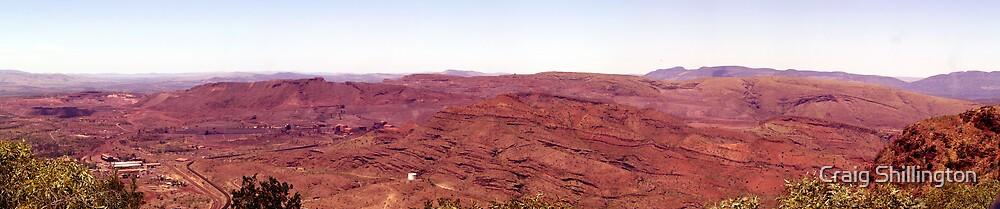 Mt Tom Price - Tom Price Iron Ore Mine Site. by Craig Shillington