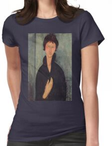 Amedeo Modigliani - Woman With Blue Eyes Womens Fitted T-Shirt