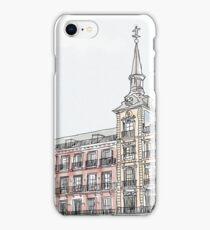 Plaza Mayor Madrid watercolor iPhone Case/Skin